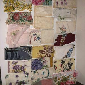Vintage hankie handkerchief lot